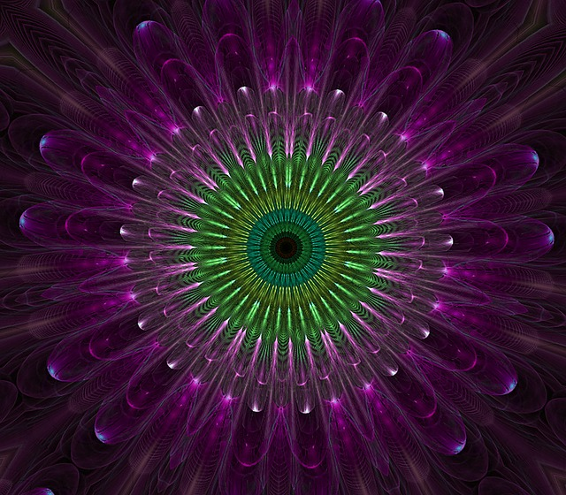 Purple Mandala Fractal